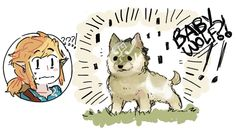 """Video game logic 745486544549712866 - gaypaninya: """"puddingsu: """"If Wolf!Link came as a pupper rather than a fully-grown wolf in the game huhu Take care of him Link! """" Triforcez """" Source by The Legend Of Zelda, Legend Of Zelda Memes, Legend Of Zelda Breath, Oot Link, Link Zelda, Radios, Link Botw, Pokemon, Twilight Princess"""