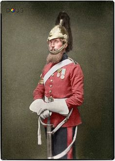 Sergeant Major Matthew Bailey, 1st. Royal Dragoons, Heavy Brigade. Aldershot 1856.Bailey wears the Crimea medal with four clasps and what ap...