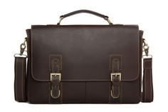 Genuine Leather Men's Briefcase Laptop Handbag Messenger Bag For Men 8069