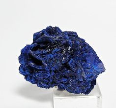 Indigo Blue Azurite Mineral Specimen Blue by FenderMinerals