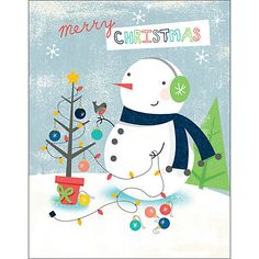 Buy Special Editions Snowman with Earphones Charity Christmas Cards, Pack of 5 Online at johnlewis.com