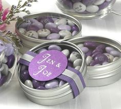 Personalized M&M wedding favor ideas | Personalized bridal shower favors by My M&M's