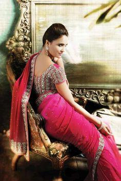 View entire Lara Dutta designed Signature Saree Collection at http://www.chhabra555.com/lara-dutta-collection