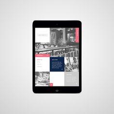 Grid/geometric layout web design  Studio 361 // Dukes Burger Co. on Behance