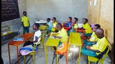 #Ghana#kasoa#endtimeschool#greenyellow#colourful#tables#students#learning#teaching