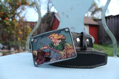 Buckle with belt Wild West pistol whipping by BuckleMeBlues, $40.00