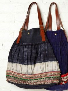 Gorgeous coin trim bags- love to know where these are from!