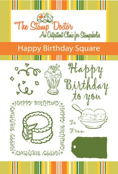 The Stamp Doctor-Clear Stamps It's Your Birthday, Happy Birthday, Card Companies, Clear Stamps, Cardmaking, Bullet Journal, Cards, Happy Brithday, Urari La Multi Ani
