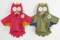 Inspiration: My Little Night Owl Baby Bathrobe (Pink)