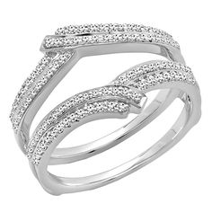 Carat (ctw) Gold Diamond Ladies Wedding Band Enhancer Double Guard Ring CT * Find out more details by clicking the image : Wedding Ring Enhancers Wedding Ring Enhancers, Enhancer Wedding Band, Engagement Ring Enhancers, Diamond Wedding Rings, Diamond Engagement Rings, Heart Shaped Diamond, Womens Wedding Bands, Anniversary Bands, Modern Jewelry