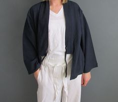 A collection of timeless hand-dyed indigo colour clothing, accessories and textiles for everyday wear. Uk Fashion, Kimono Fashion, Ethical Fashion, Indigo Colour, Indigo Dye, Blue Kimono, Kimono Style, Kimono Top, Summer Jacket