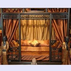 Chinese Canopy Den Bed: Carved Wedding Bed - Tara Home