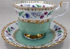 Royal Albert Pattern Teacup Set