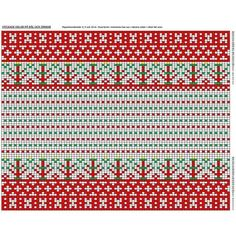 Patrick's Korsnäs Sweater Crochet pattern by Patrick Zein Knitting Charts, Knitting Patterns, Crochet Patterns, Embroidery Patterns, Stitch Patterns, Fair Isle Chart, Tapestry Crochet, Red Background, Mittens
