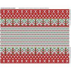 Patrick's Korsnäs Sweater Crochet pattern by Patrick Zein Knitting Charts, Hand Knitting, Knitting Patterns, Embroidery Patterns, Stitch Patterns, Fair Isle Chart, How To Start Knitting, Tapestry Crochet, Blouse