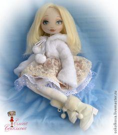 Коллекционные куклы ручной работы. Ярмарка Мастеров - ручная работа. Купить Анастасия. Handmade. Кукла, голубоглазая кукла, хлопок, кружево
