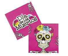Servietten Sugar Skull Party, 12er Pack