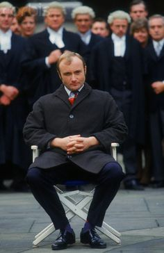 Phil Collins on Set of Buster
