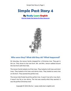 Practice the Simple Past Tense. Free, printable short story, worksheets, and answer key for the English SIMPLE PAST TENSE. Simply click and print! This is perfect for ESL teachers and students!