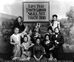 """Prohibition Era~ """"Lips That Touch Liquor Shall Not Touch Ours"""" referring to the temperance movement and prohibition. Still image from Edison movie"""