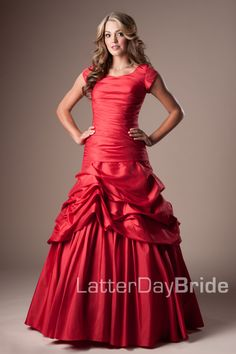 modest prom dress from an LDS site -- love the idea of less skin even if I'm not LDS...great site for girls or women