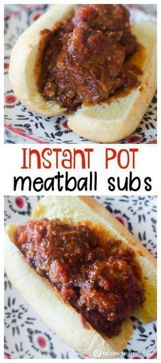 Make the tastiest and most perfect meatballs in your Instant Pot! This recipes is great for meatballs subs as well as spaghetti with meatballs. (gf breadcrumbs)