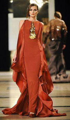 Rust-color-long-satin-evening-dress.jpg (400×686)