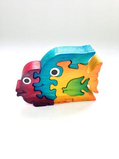 Items similar to Fish Wooden Animal Puzzle Handmade Decoration Toy Natural Sea Blue Raspberry red on Etsy Wooden Puzzles, Wooden Toys, Animal Puzzle, Wooden Animals, Wooden Decor, Handmade Decorations, Wood Projects, Diy And Crafts, Coin Purse