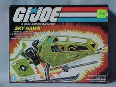 The box for the G.I.Joe Sky Hawk vehicle. I had one of these...the canopy was kind of flimsy, though, and part of it snapped.