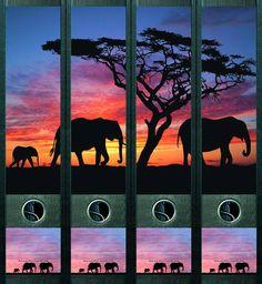 Lever Arch File Label Africa AJ425