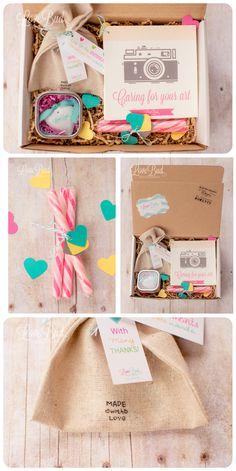 Photography Packaging| Lovebud Photography  Check out the website for more like the treat and care instructions