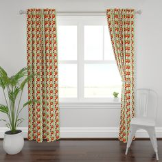 Watercolor Floral Curtain Panel - Poppy - Watercolor Poppies by utart - Red Poppies Botanical Custom Curtain Panel by Spoonflower Ikat Curtains, Custom Curtains, Panel Curtains, Poppy Pattern, Red Poppies, Watercolor Poppies, Pastel Colors, Home Accents, Surface Design