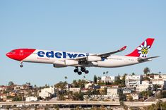 Operating the 2018 season's last fro ZRH. Edelweiss is scheduled to resume seasonal service between ZRH and SAN in April Visit San Diego, Airplanes, Aircraft, Commercial, October, Aviation, Planes, Plane, Airplane