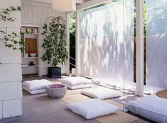 Meditation room can also be used as a home gym and yoga studio when needed [Design: Rozalynn Woods Interior Design]