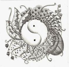 de nieuwe maand is al weer begonnen en daarom ook weer een nieuw uitdaging.  de maand is het thema:  yin yang           gebruik deze templat...