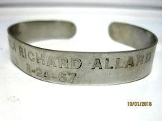 Original Vietnam POW Bracelet Spec 4 Richard Allard  8-24-67 CONTROVERSIAL POW
