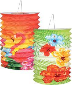 2 Lanternes Hawaï  et un choix immense de décorations pas chères pour anniversaires, fêtes et occasions spéciales. #hawai #decoration #anniversaire #tropical