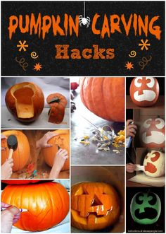 Pumpkin carving hacks - make your pumpkin carving night just a little bit easier!!