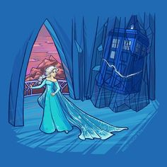 Doctor who and frozen Disney princess Elsa crossover by karen hallion