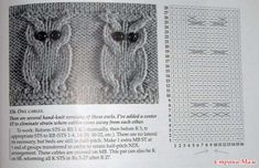 Tohoto motýlka jsem si kdysi dávno vytiskla z netu, bohužel už nevím kde. Baby Knitting Patterns, Owl Patterns, Knitting Charts, Knitting Stitches, Stitch Patterns, Crochet Patterns, Cable Knitting, Knitting Socks, Hand Knitting