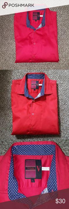 Men button up shirt Worn gently VASSARI LOS ANGELES Shirts Dress Shirts