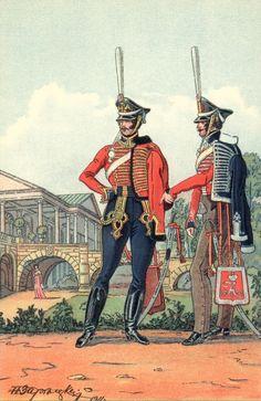 Hussars of the Life Guard and the Izyum regiment (Russian), 1812, N. Zaretzkiy.