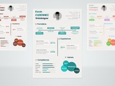 Foto: Plantilla PSD gratis para curriculum vitae estilo infografía   recursos photoshop infografias 2: https://dribbble.com/shots/1091421-Infographic-resume-PSD?list=following