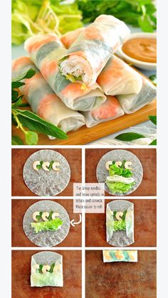 How to wrap Goi Cuon (summer rolls) to make them look pretty