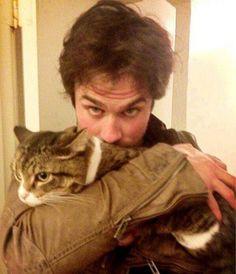 Ian Somerhalder and cat!?  All I'll ever want.