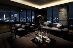 Tokyo 'Hidden Refuge' Penthouse  03/07/12  Price: $ 8,750,000  Location: Tokyo, Japan  Type of Home: Penthouse  This apartment is designed to be a hideaway in the middle of Tokyo's government district, with expansive views, two kitchens and access to a hot-stone spa and footbath on the roof. —Kristiano Ang