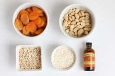 apricot energy balls ingredients