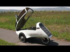 Pannonrider Fully enclosed Solar velomobiles - YouTube Electric Trike, Electric Motor, Mobiles, Tricycle Bike, Recumbent Bicycle, Reverse Trike, Alternative Energy, The Elf, Solar Power
