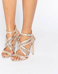 Miss KG Fox Metallic Heeled Sandals - Multi