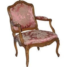 """Louis XV Fauteuil à la Reine, C1750, Signed """"JAvisse"""" 